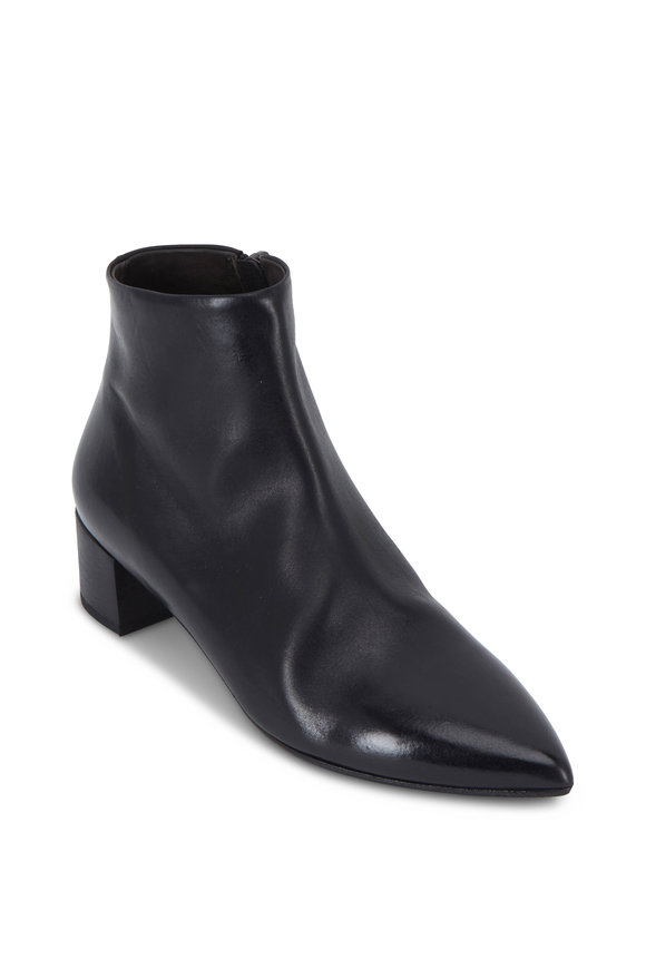 Marsell Black Leather Stuzzichino Ankle Boot, 45mm