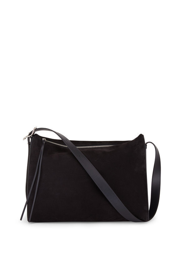 Loewe Berlingo Black Suede Large Shoulder Bag