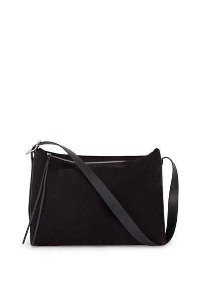 Loewe - Berlingo Black Suede Large Shoulder Bag
