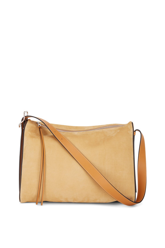 Loewe Berlingo Sand Suede Large Shoulder Bag