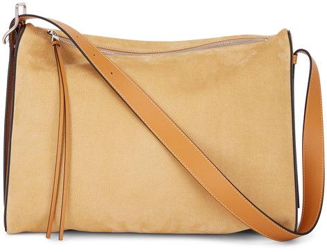 Loewe Berlingo Sand Suede Large Shoulder Bag