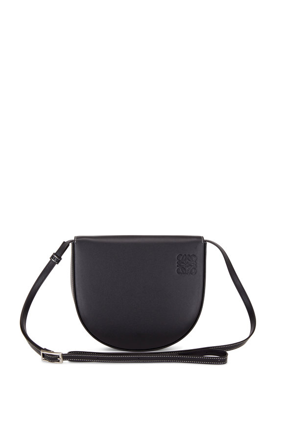 Loewe Heel Black Leather Mini Crossbody Bag