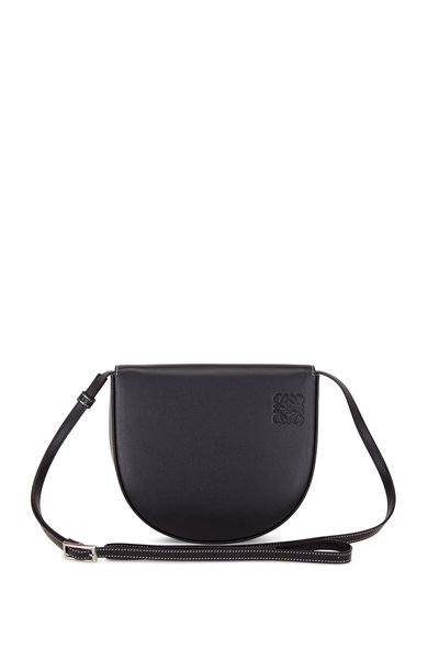 Loewe - Heel Black Leather Mini Crossbody Bag