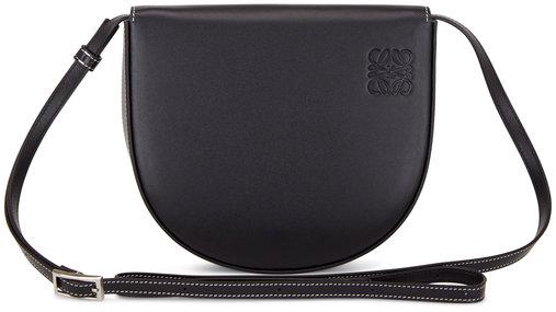 Loewe Heel Black Leather Mini Crossbody Bag
