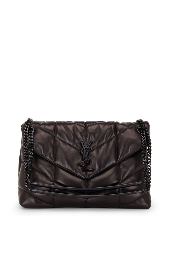 Saint Laurent Loulou Black Quilted & Padded Leather Medium Bag