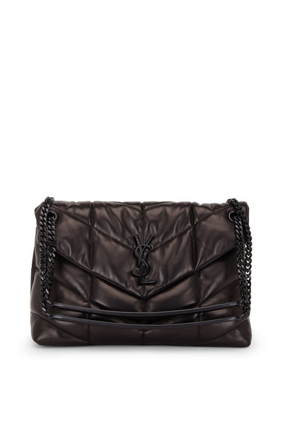 Saint Laurent - Loulou Black Quilted & Padded Leather Medium Bag