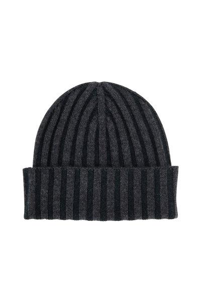 Kinross - Graphite Cashmere Plaited Hat