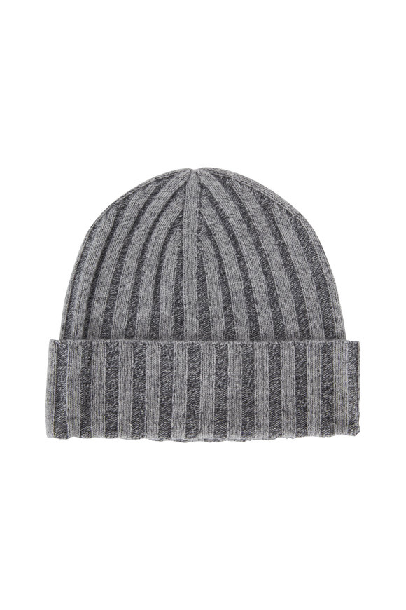 Kinross Stone Gray Cashmere Plaited Hat