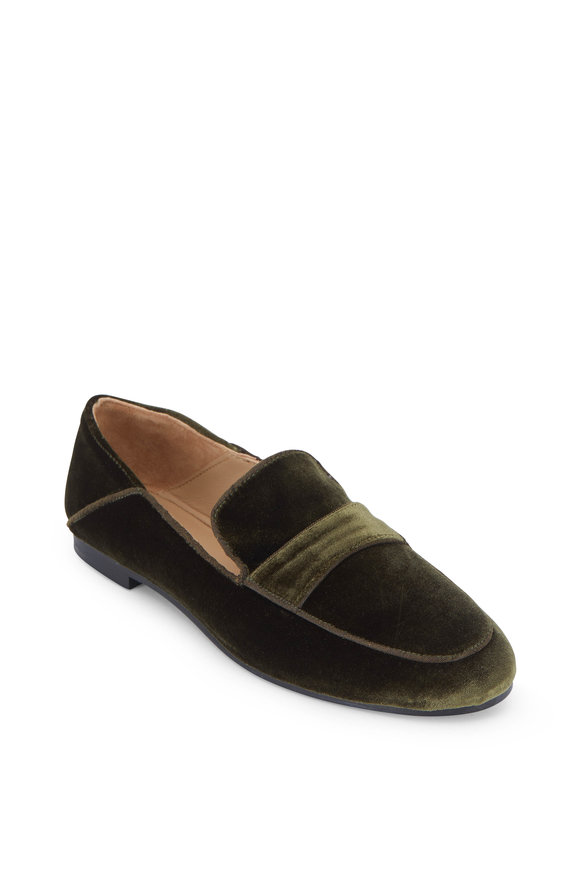Maliparmi Emerald Green Velvet Loafer
