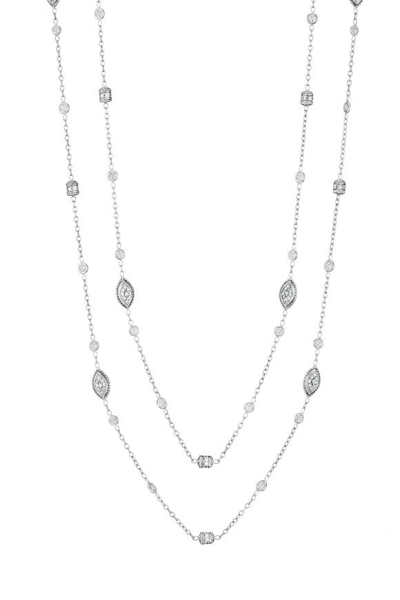 Penny Preville 18K White Diamond Rondell Chain