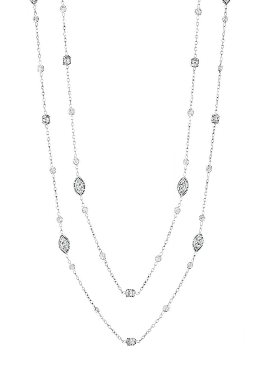 18K White Diamond Rondell Chain
