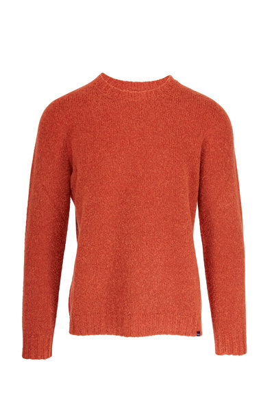 04651/ - Brick Wool Crewneck Pullover