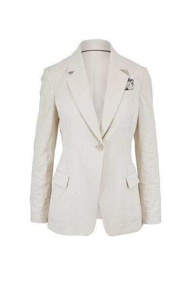 Brunello Cucinelli - Natural Cotton Single Button Pocket Square Blazer