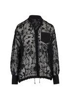 Brunello Cucinelli - Sheer Black Paillette Embellished Blouse