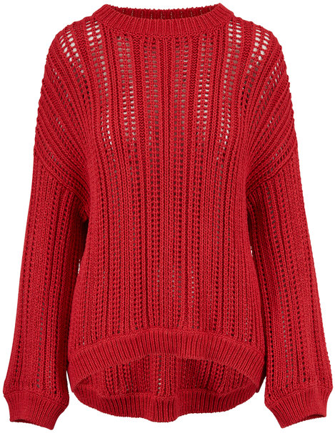 Brunello Cucinelli Exclusively Ours! Red Cotton Lurex Sweater