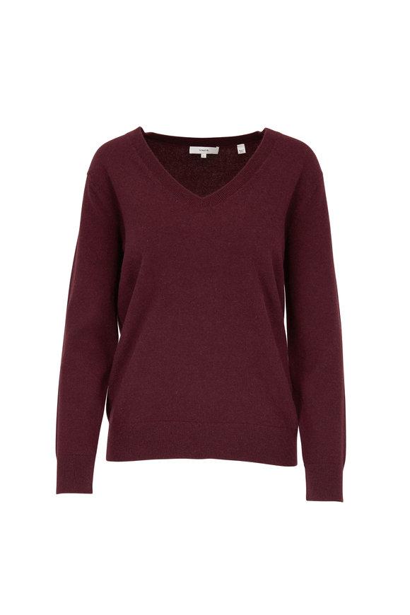 Vince Heather Dahlia Wine Weekend Sweater