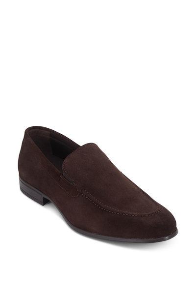 G Brown - Ashton Dark Brown Suede Venetian Loafer