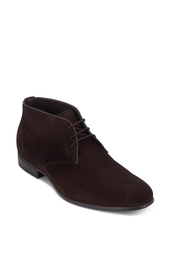 G Brown Taylor Dark Brown Suede Chukka Boot