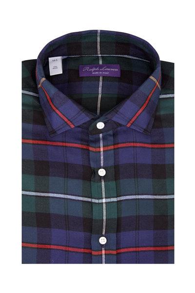 Ralph Lauren - Navy Blue Multi Plaid Sport Shirt