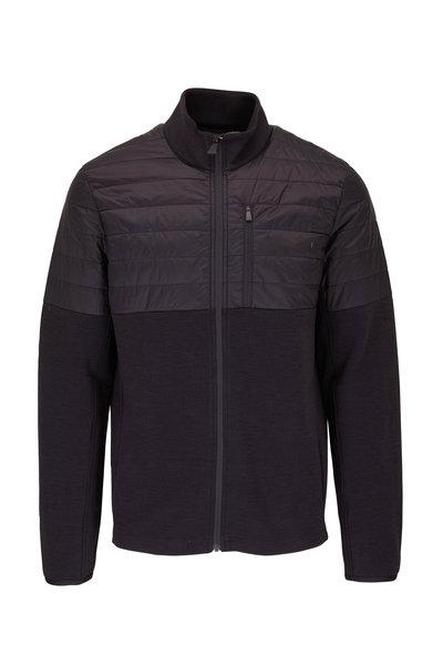 Aztech Mountain - Space Black Half Quilted Front Zip Jacket