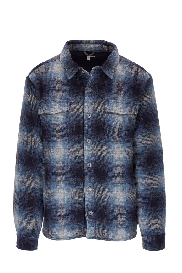 Peter Millar Blueridge Plaid Wool Shirt Jacket