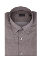 Ermenegildo Zegna - Brown Mini Check Sport Shirt