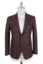 Mauro Blasi - Rust & Gray Windowpane Wool Sportcoat