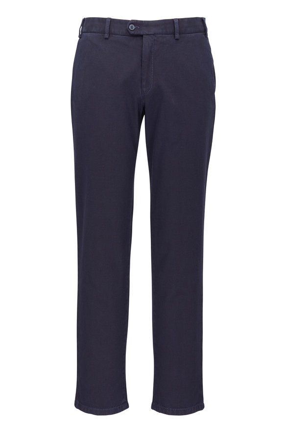 Hiltl Pierre Navy Blue Textured Pant