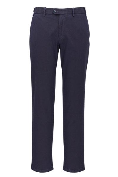 Hiltl - Pierre Navy Blue Textured Pant