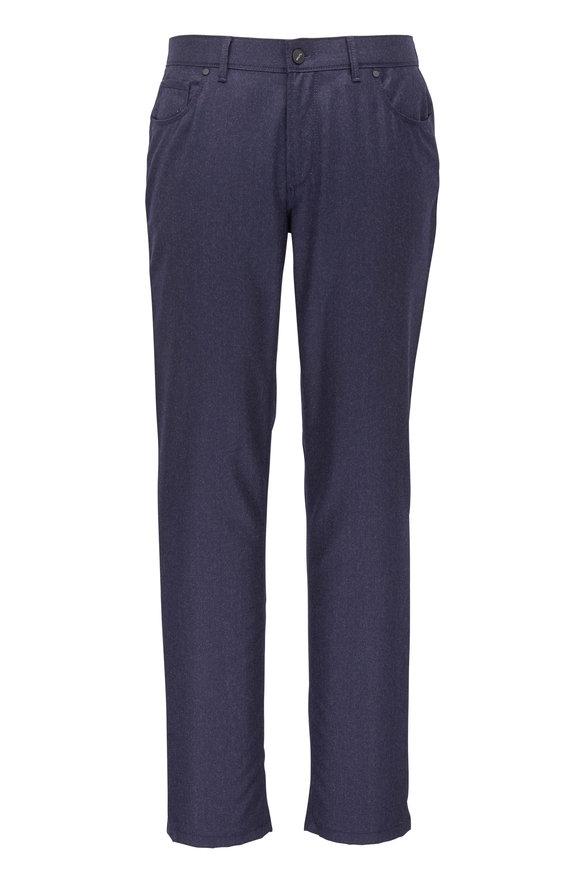Hiltl Kent Navy Blue Flannel Five Pocket Pant