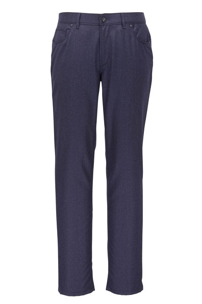 Hiltl - Kent Navy Blue Flannel Five Pocket Pant