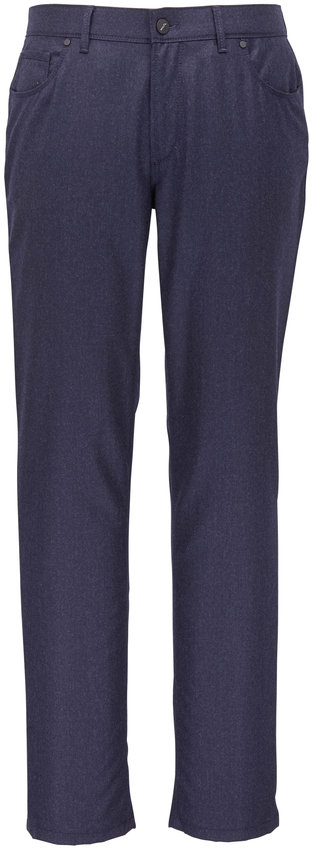 Hiltl Kent Navy Blue Flannel Five Pocket Pant