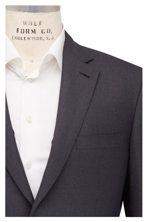 Brioni Charcoal Gray Wool Suit