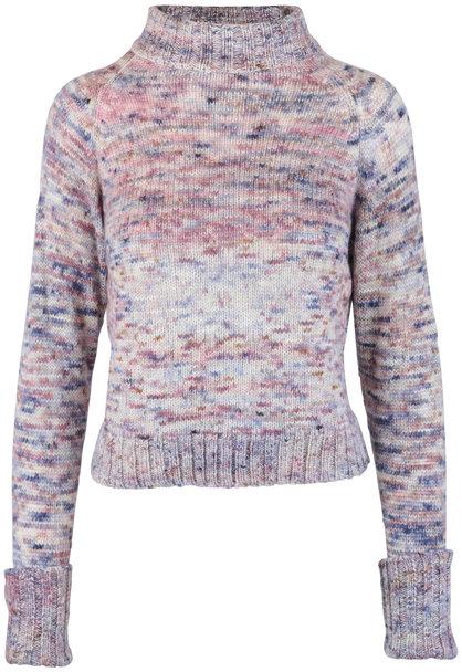The Elder Statesman Pink Hand Spun Cashmere Mock Neck Sweater