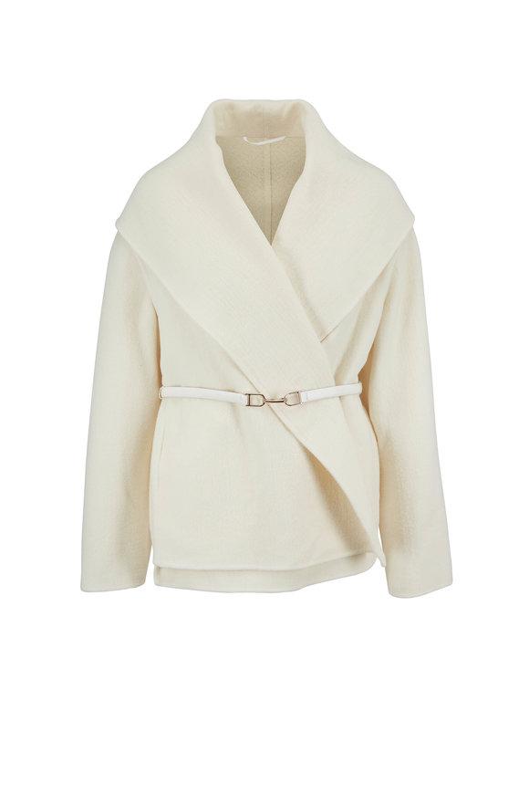 Gabriela Hearst Harris Ivory Double-Faced Cashmere Wrap Jacket