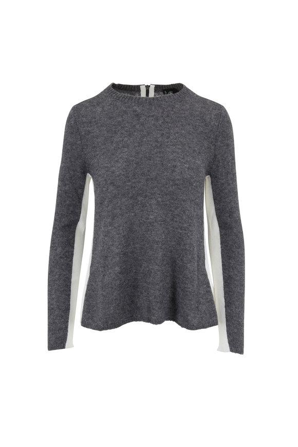 Bogner Fanni Gray & White Colorblock Sweater