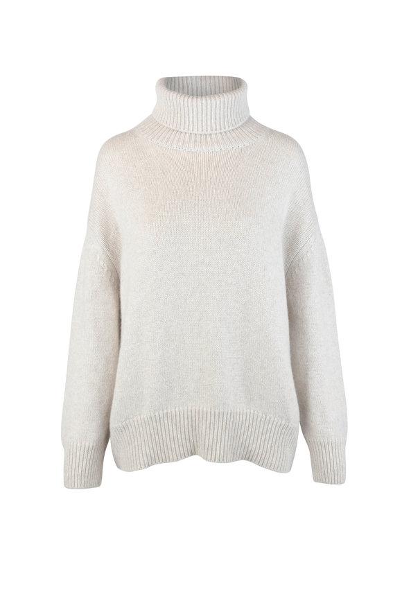 Kiton Oat Cashmere Turtleneck Sweater