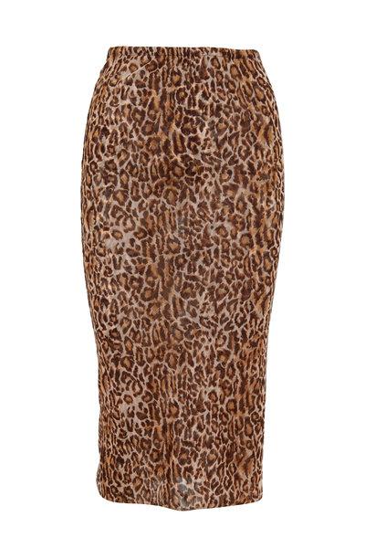 Peter Cohen - Copper Leopard Print Tube Skirt
