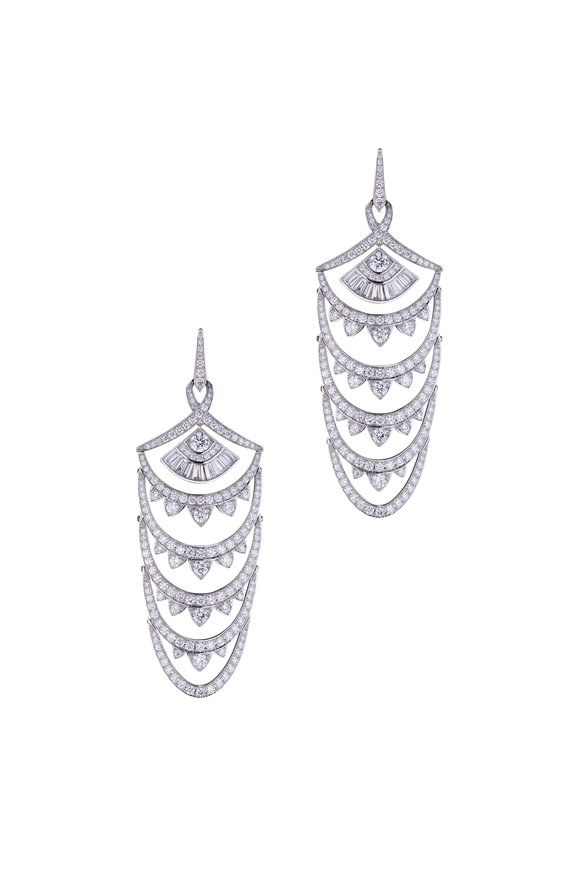 Stephen Webster White Diamond Couture Voyage Earrings