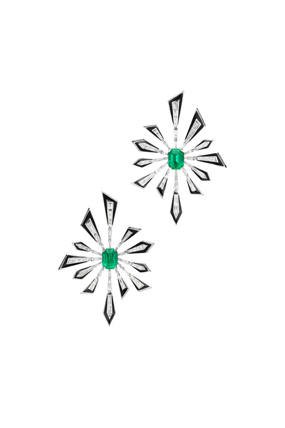 Stephen Webster White Gold & Emerald Dynamite Earrings