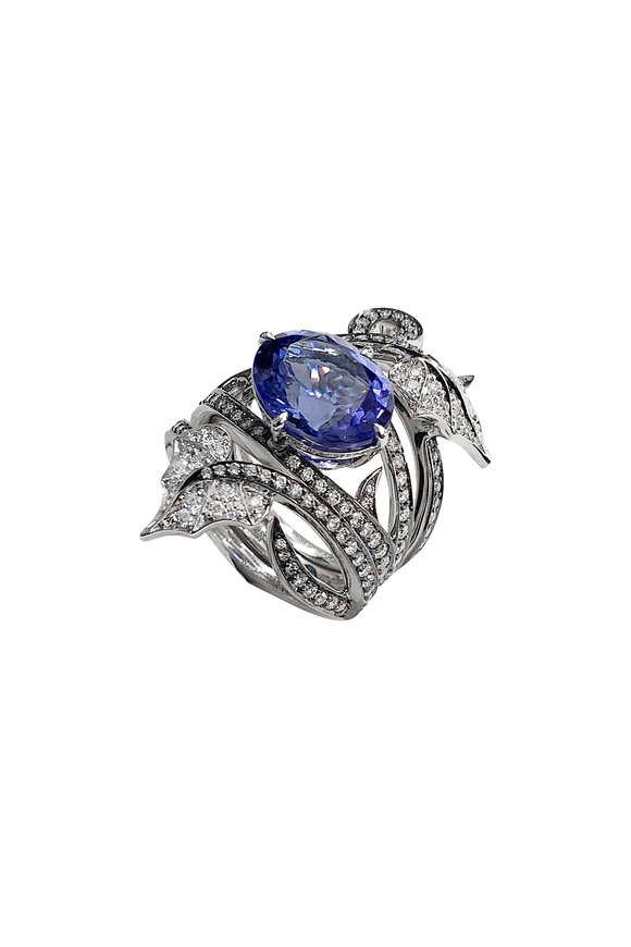 Stephen Webster Diamond & Tanzanite Poison Ivy Cocktail Ring
