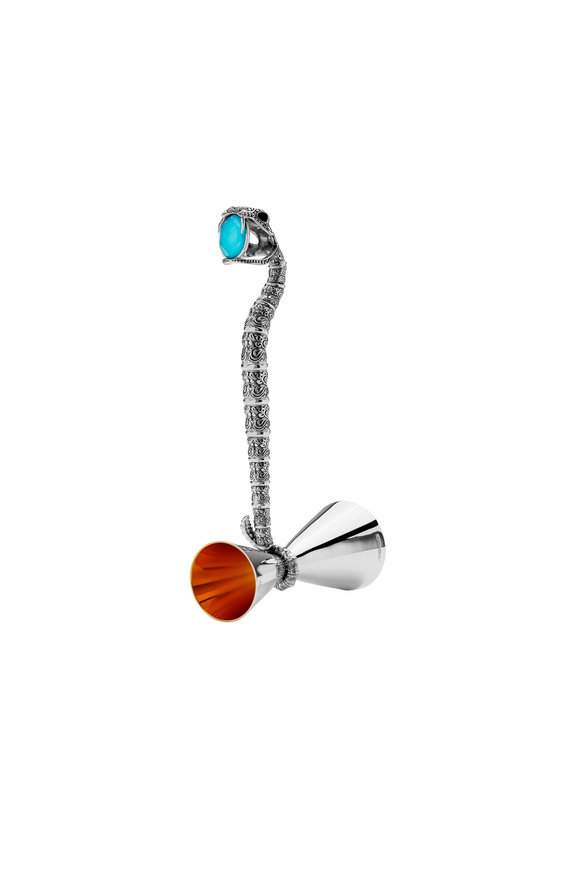 Stephen Webster Sterling Silver & Turquoise Snake Measurer