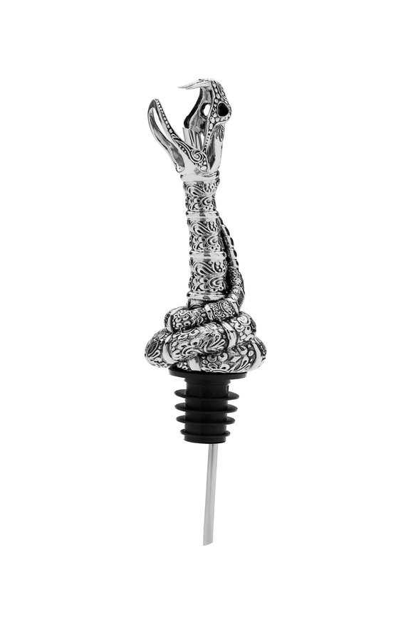 Stephen Webster Sterling Silver Snake Head Pourer