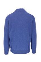 Brunello Cucinelli - French Blue Cashmere Quarter-Zip Pullover