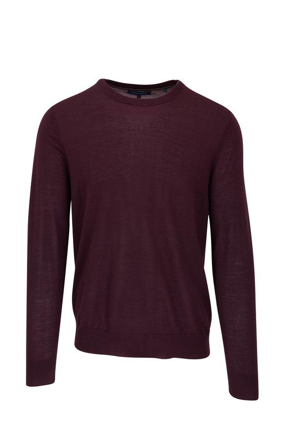PYA Patrick Assaraf Raisin Merino Wool Crewneck Sweater