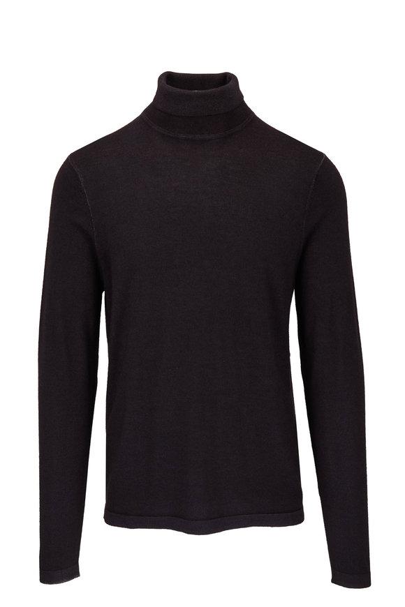 PYA Patrick Assaraf Black Wool Turtleneck Sweater