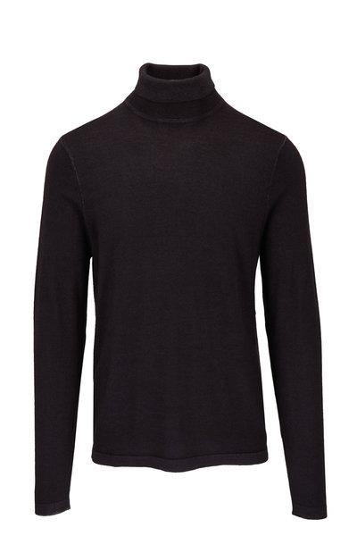 PYA Patrick Assaraf - Black Wool Turtleneck Sweater