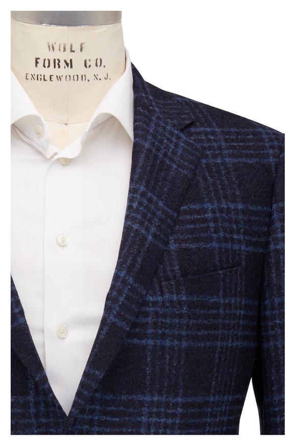 Samuelsohn Black & Blue Windowpane Sportcoat