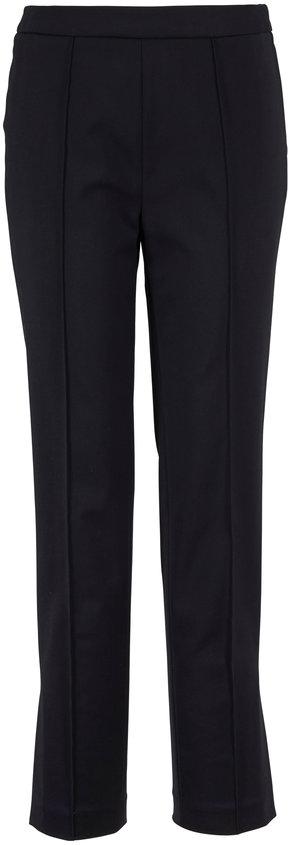 Partow Maurice Black Stretch Cotton Straight Pant