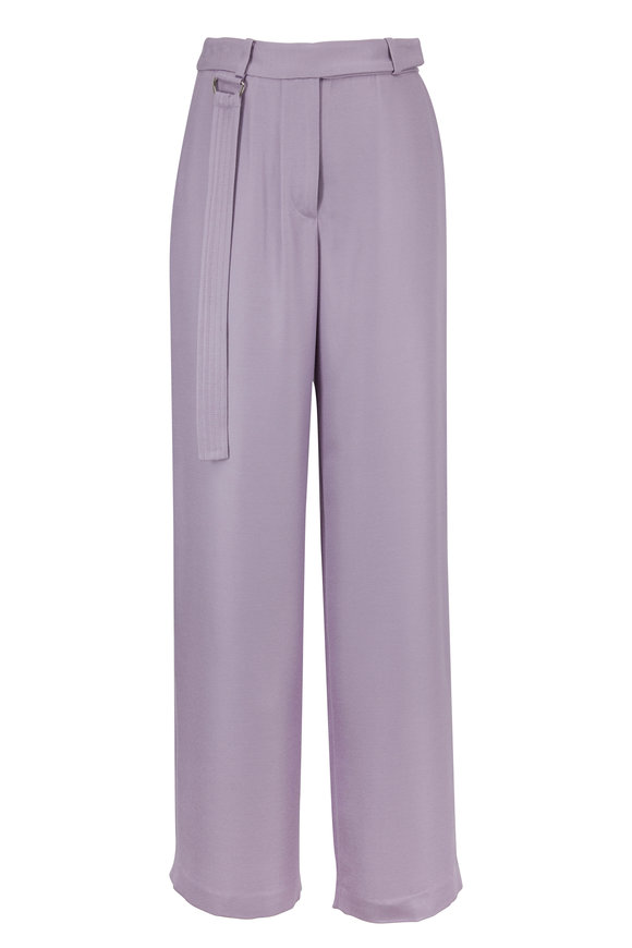 Sally LaPointe Lavender Wide Leg Pant